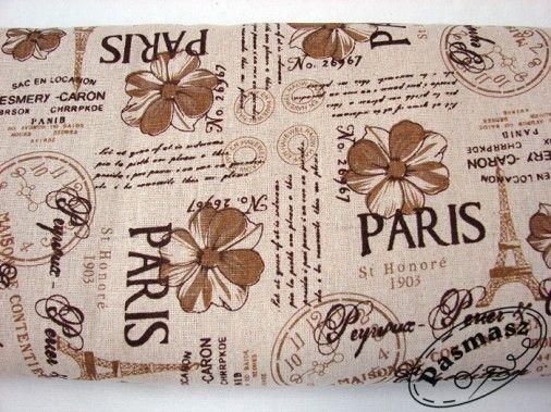 Tkanina bawełniano-lniana Paryż