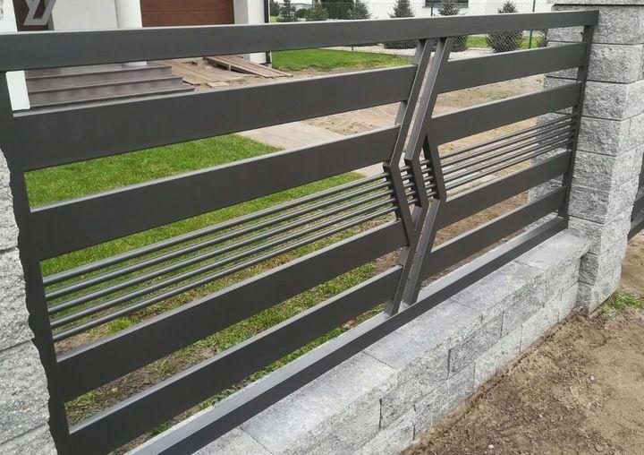 Ogrodzenie Panelowe Plot Brama Palisada Gobe 369 8832799588 Allegro Pl House Gate Design Gate Designs Modern Railing Design