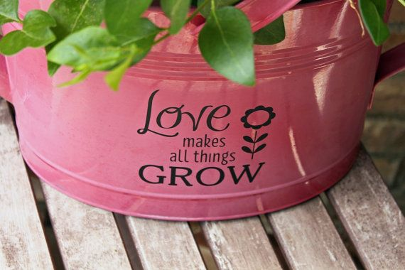 Celebrate spring with this vinyl decal that can be applied to any surface to turn an ordinary pot, vase or gardening container into a lovely spring gift! Leave a note on your order if you would like me to include a Mothers Day 2018 add-on decal. This listing includes 1 decal that