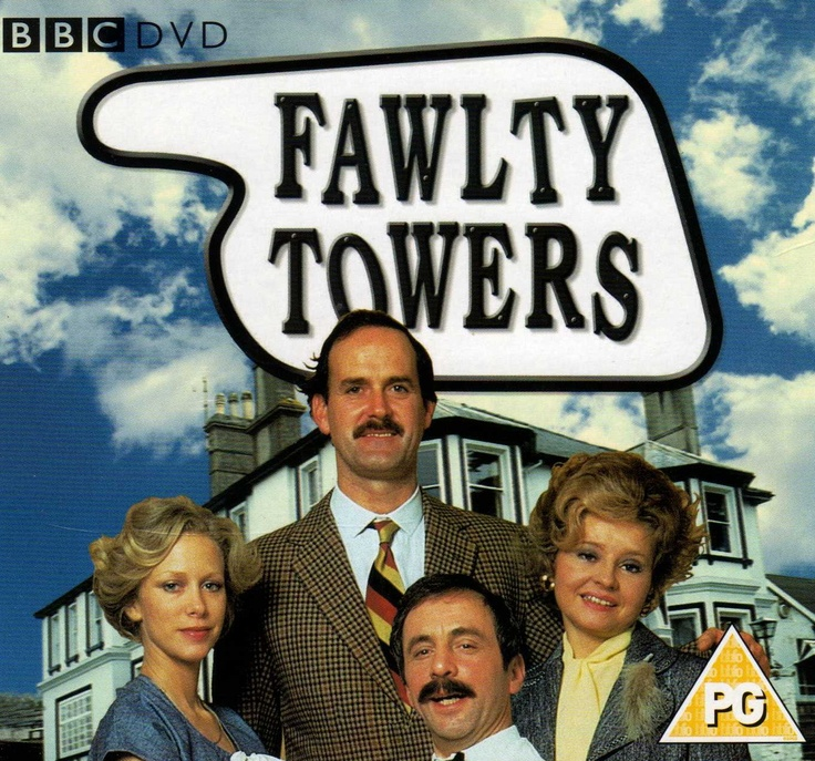 Connie Booth - John Cleese - Prunella Scales - Andrew Sachs   (JOHN CLEESE- Halifax ns,-- Last time to see me before I die tour)