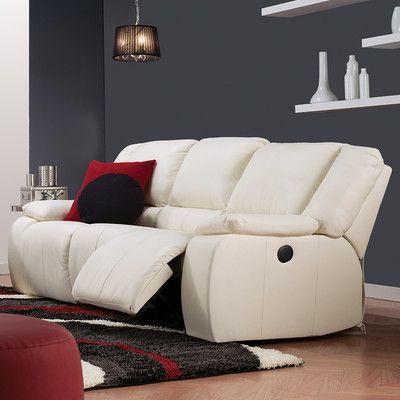 Palliser Furniture Harrow Reclining Sofa Upholstery: All Leather Protected    Tulsa II Sand, Leather