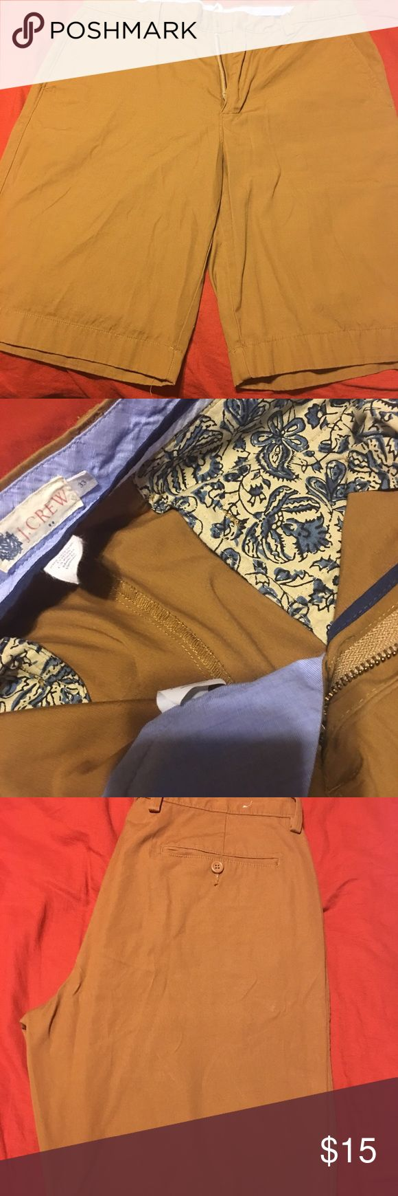 J. Crew chino shorts Men's chino shorts by J.Crew. Worn once. I didn't like the brownish-khaki color against my skin completion. 😓 J. Crew Shorts
