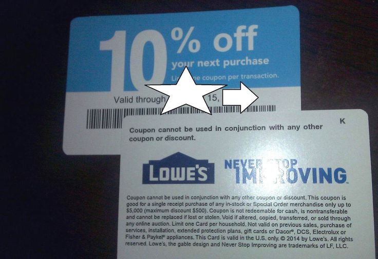 Coupons: (10) Lowes 10% Off Purchase Competitors Only - Expire 06/15/2017 - Home Depot. BUY IT NOW ONLY: $6.98