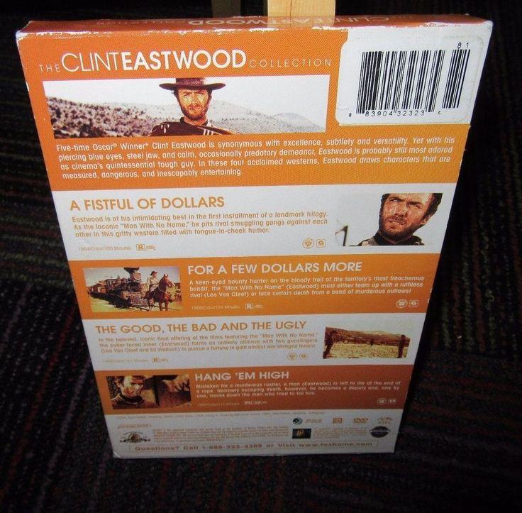 CLINT EASTWOOD COLLECTION 3-DISC DVD SET, FISTFUL OF DOLLARS,HANG EM HIGH, GOOD
