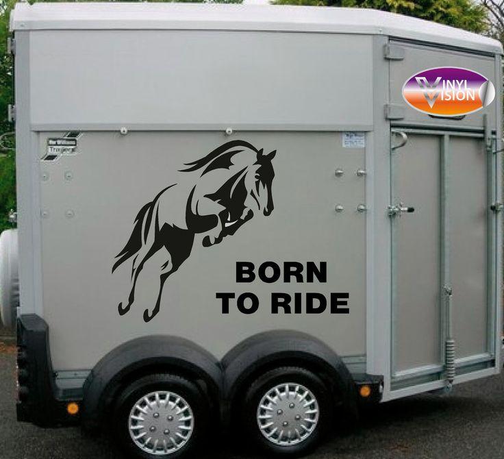 Choice of colour Vinyl Decal Stickers for Horsebox//Trailer//Car//Van 2x HORSES