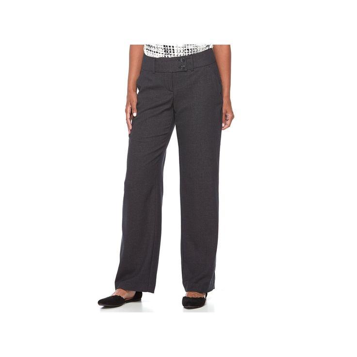 Women's Apt. 9® Curvy Dress Pants, Size: 12 Short, Black