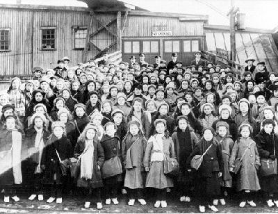 "Orphan Children Bound for Canada In one of the most Draconian movements in the history of emigration, Britain's ""surplus children,"" including orphans were sent to Canada as farm labour. (courtesy Library and Archives Canada/PA-41785)."
