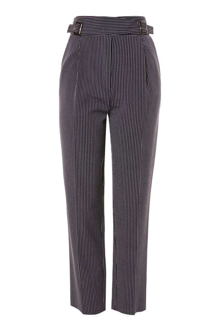 Stripe Tapered Trousers - Topshop