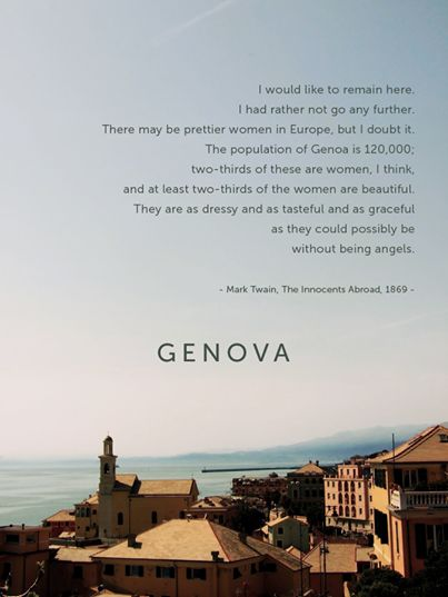 Genova Mark Twain, The Innocents Abroad, 1867