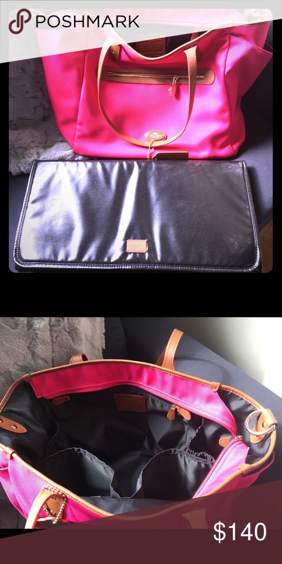 Coach diaper bag w/changing pad....new!! Brand new w/o tags pink Coach diaper bag. Has handles and shoulder strap, retails for $450 Coach Bags Baby Bags