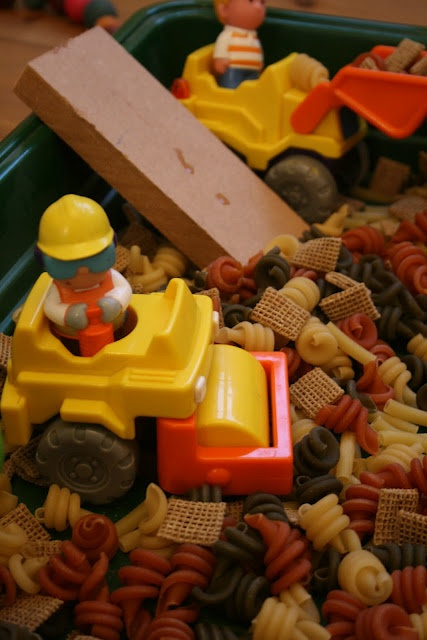 Construction site play @TheImaginationTree