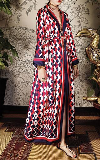 Lelantos Printed Silk Dress by For Restless Sleepers
