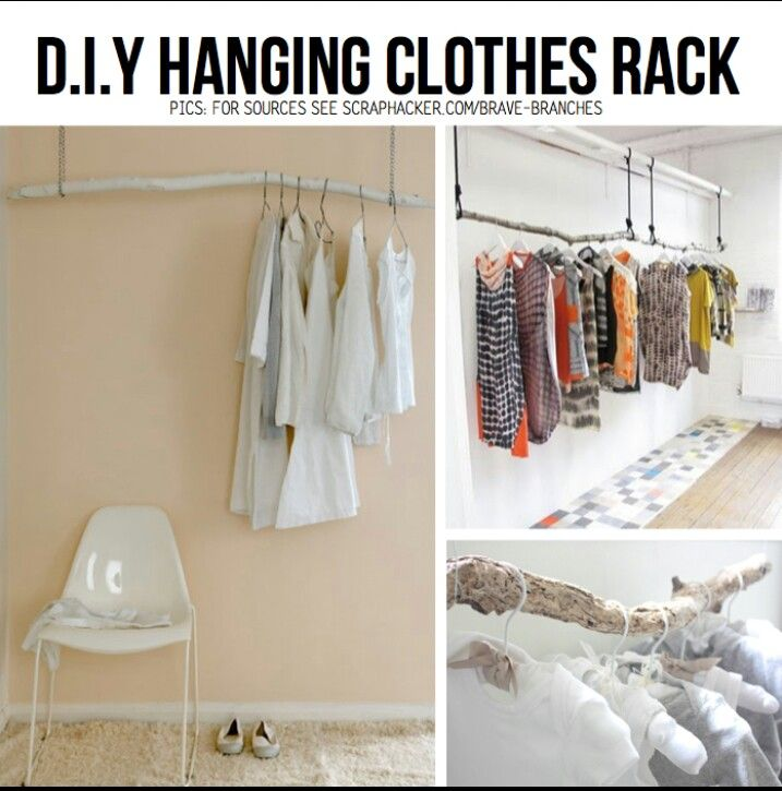 diy clothing rack diy pinterest do it yourself clothing racks and clothes. Black Bedroom Furniture Sets. Home Design Ideas