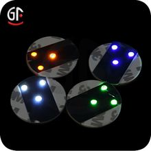 Led Christmas Lights Wholesale Shenzhen Factory Logo Custom Cheap Round Glass Led Bottle Sticker Coaster - search result, Shenzhen Great-Favonian Electronics Co., Ltd.