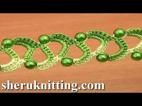 Easy to Crochet Two Side Flat Tape With Beads Tutorial 20 - YouTube