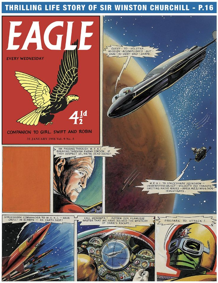 Dan Dare: The Ship That Lived page 1 (Original) art by Frank Hampson at The Illustration Art Gallery
