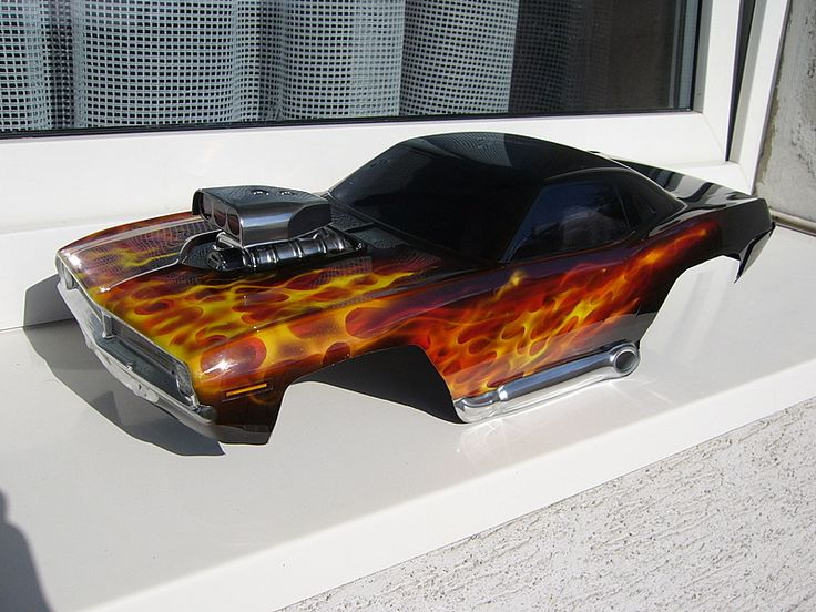 How to Paint True Fire for RC Car Bodies - Airbrushing, Airbrush