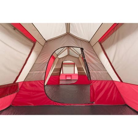 Ozark Trail 25' x 10' Split Plan Instant Cabin Tent, Sleeps 15, Red