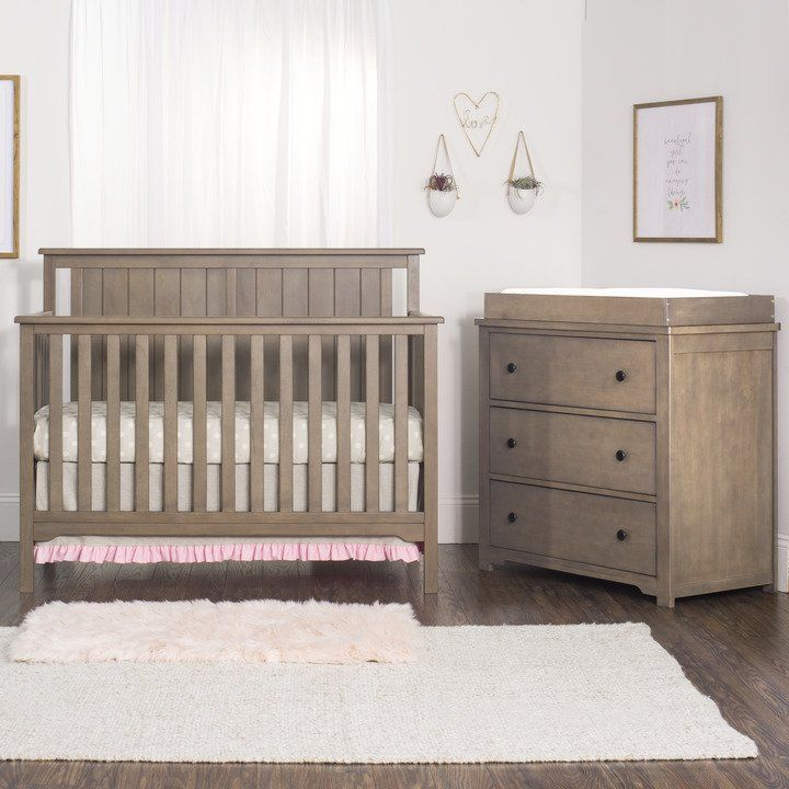 Cottage Flat Top Crib Dusty Heather Cribs Convertible Crib Furniture