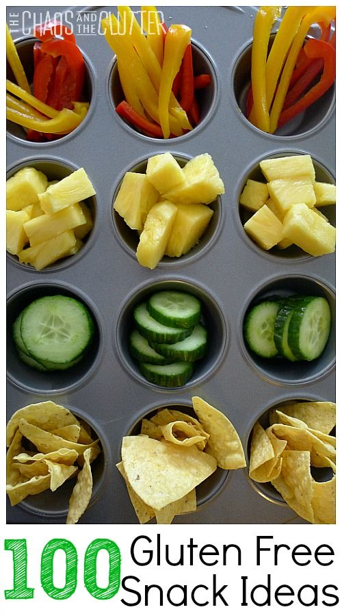 100 Gluten Free Snack Ideas: pinning for some new ideas for snacks for my girls.