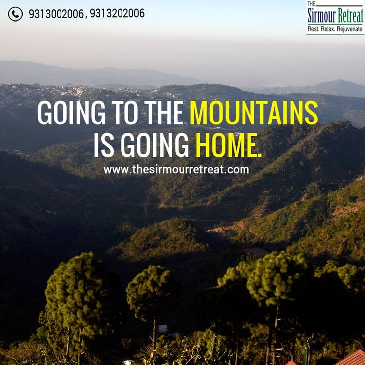 Going to the #mountains 🏔️⛰️ is going #home ⛪💒 Visit 👉 https://goo.gl/VpSVhT  Call ☎️ +91-9313002006  E-mail 📧 jpbr_sirmour@yahoo.co.in