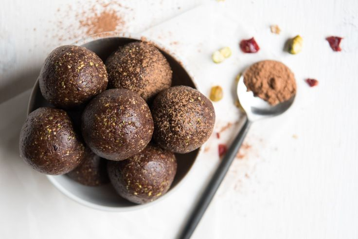 Chocolate Cranberry and Pistachio Balls