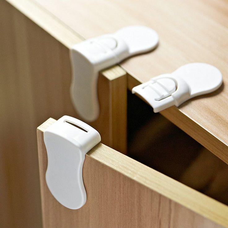 Child Lock Door Drawer Kids Baby Safety Protector Plastic Baby Kids Door Lock Table Corner Protection Cover Edge & Corner Guards