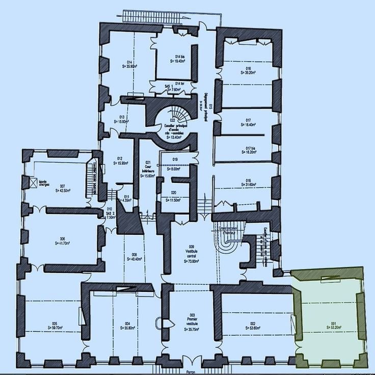 Downstairs Before and After! — Château de Gudanes, the floor plan