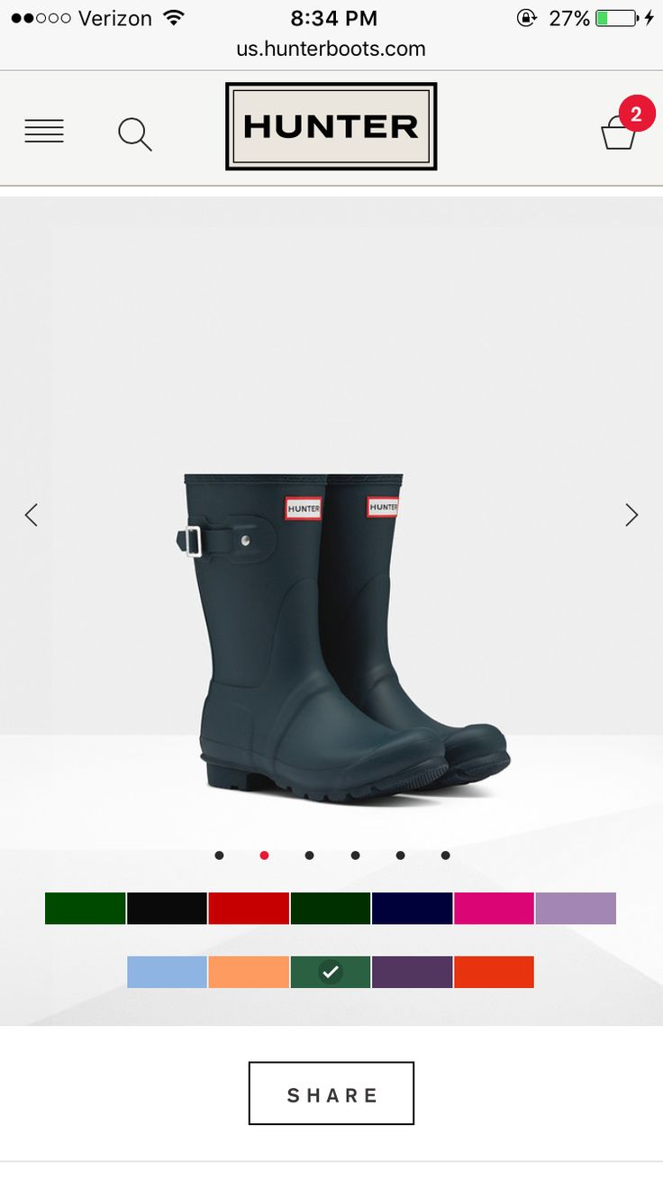 Womens Short Hunter Rain Boots