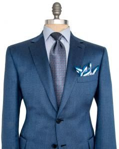 Image of Brioni Blue Birdseye Sportcoat