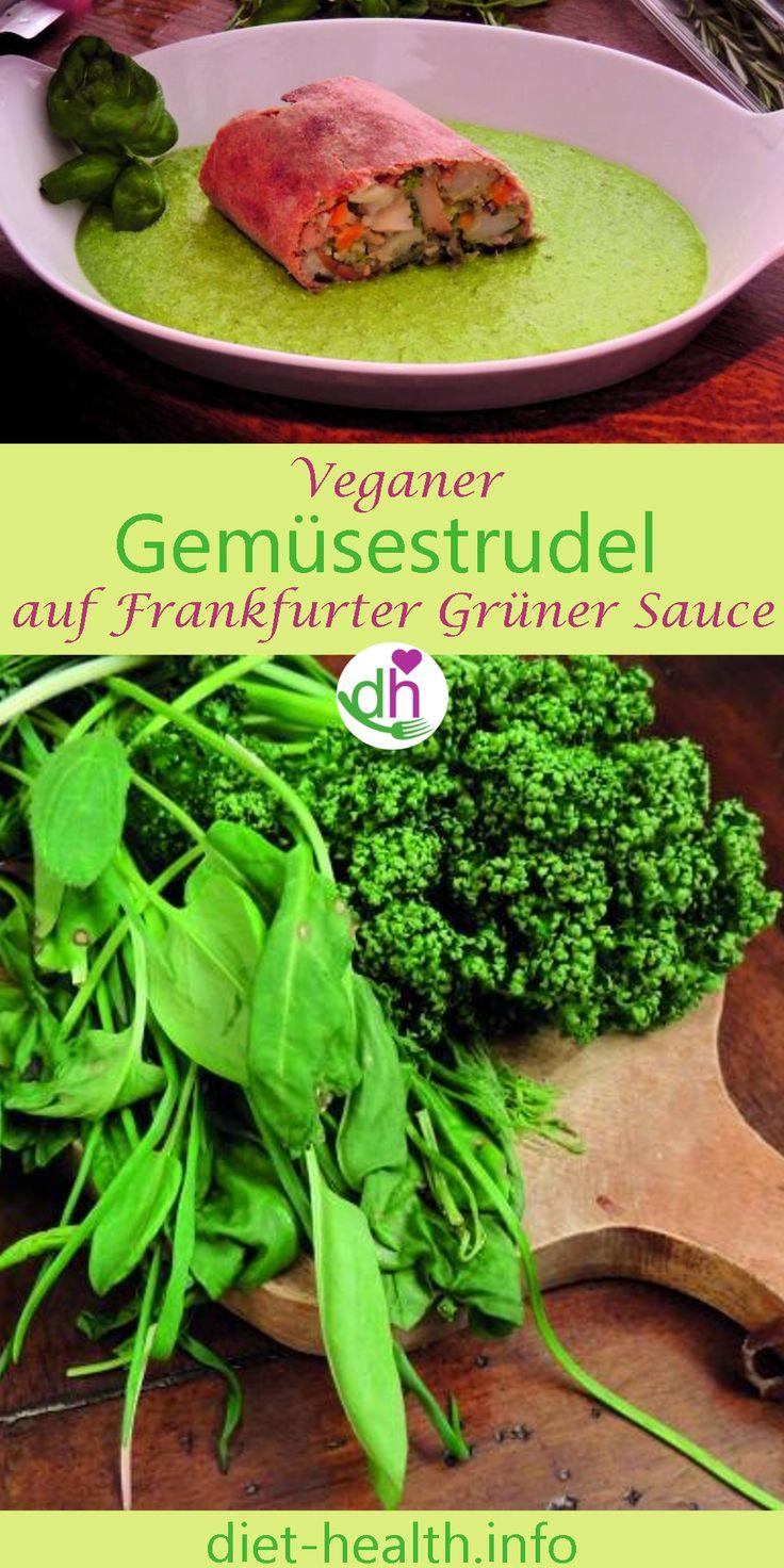Der Gemüsestrudel auf Frankfurter Grüner Sosse zaubert mit seiner farbenfrohen Gemüsefüllung und den frischen Kräutern in der vegan zubereiteten Sosse regelrecht den Frühling in den Teller! Bald können Sie die ersten Kräuter auch wild sammeln!
