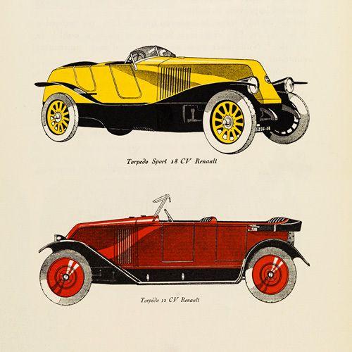 Automobiles Renault - Gazette du Bon Ton Prints - Easyart.com