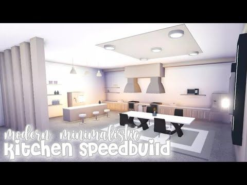 Modern Minimalistic Kitchen Speed Build Roblox Adopt Me Youtube Futuristic Home Kichen Design Simple Bedroom Design