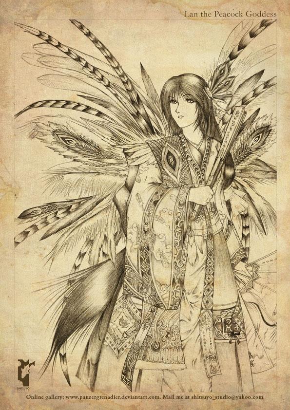Lan - The Peacock Goddess