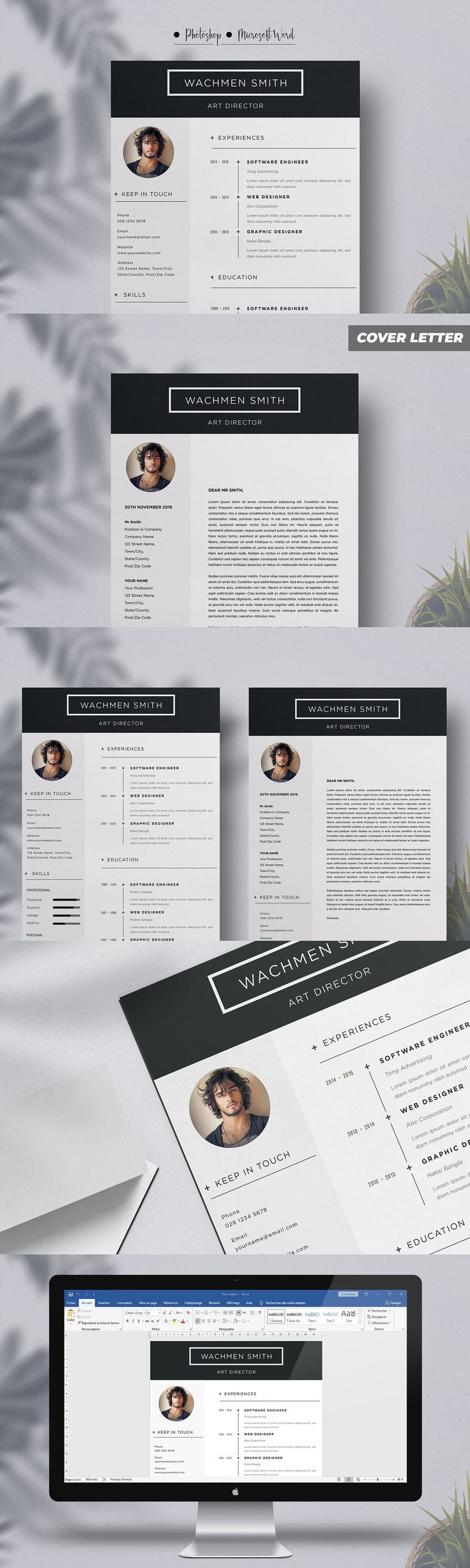 1Piece resume Template in 2020 Resume template, Resume