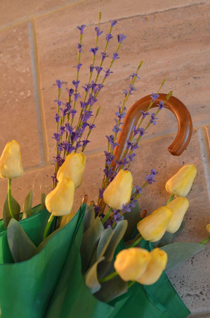 Зонт с цветами...