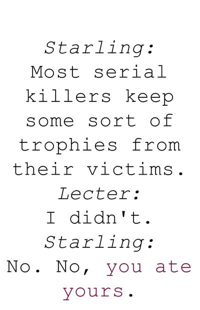 lecter and starling relationship quotes