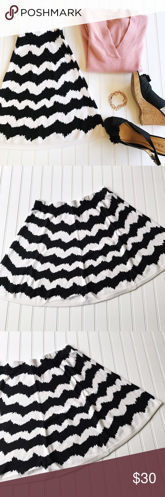 "INC Black And White Circle Skirt INC International Concepts Black And White Circle Skirt.  No rips or stains.  Waist 30"" Length 19"" INC International Concepts Skirts Circle & Skater"