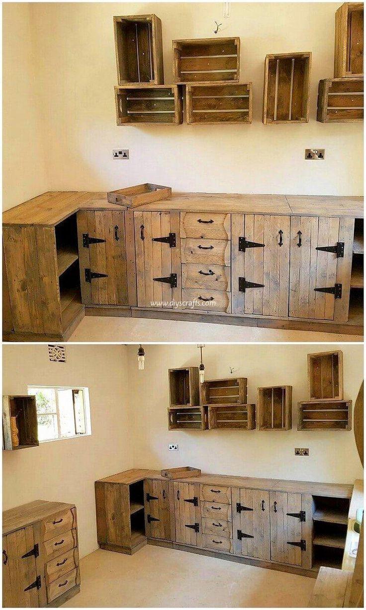 Kitchen Cabinet Woodworking Plans In 2020 Pallet Kitchen Cabinets Wood Furniture Plans Pallet Kitchen