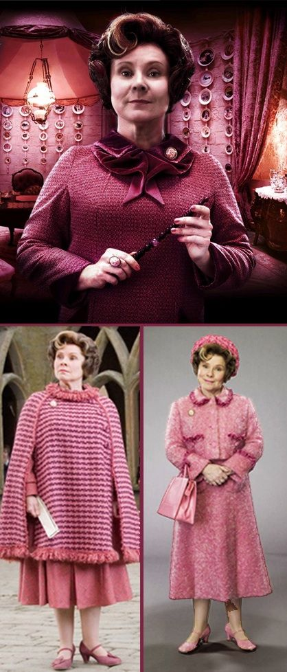 Hogwarts Professors:  Dolores Umbridge from 'Harry Potter and the Order of the Phoenix' (2007) -- Costume Designer: Jany Temime