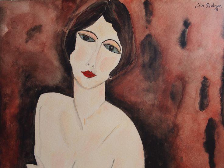 Watercolor paint Isabel 29.7 x 42 cm Solgt!