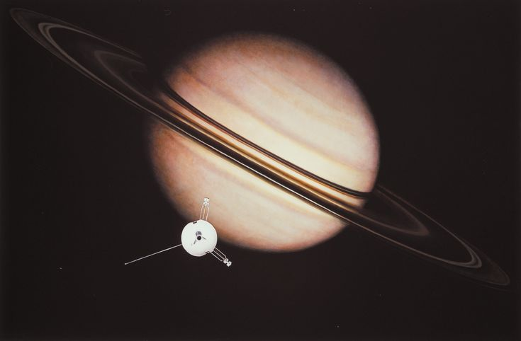 NASA Celebrates Four Decades of Plucky Pioneer 11 - An artists impression of Pioneer 11 and Saturn.