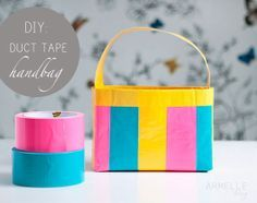 :: armelle blog ::: diy: duct tape bag - i kind of want to make a duct tape bag now. It would be a cute tote for my little one.