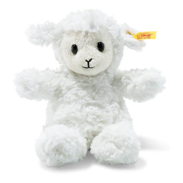 Steiff Mini Cordero con dise/ño de l/ámina color blanco