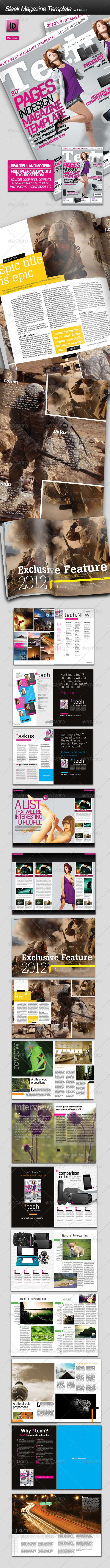 Sleek inDesign Tech Magazine Template  • Only available here ➝ http://graphicriver.net/item/sleek-indesign-tech-magazine-template/1703342?ref=pxcr