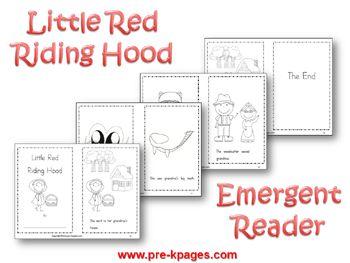 FREE Printable Little Red Riding Hood Mini Book Set