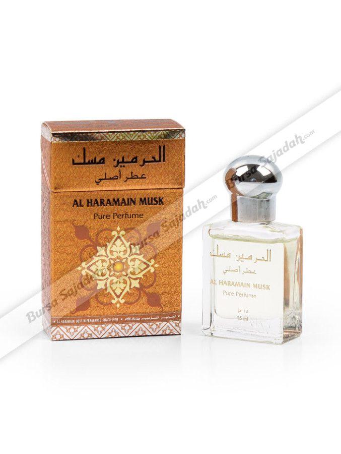 Haramain Musk, minyak wangi khas Timur  Tengah dengan wangi vanilla yang cozy ini merupakan salah satu parfum wanita favorit yang digemari baik untuk pemakaian sehari-hari maupun dijadikan oleh-oleh haji dan umroh istimewa. Parfum murni roll-on yang wanginya tahan lama ini sangat pas untuk Anda penyuka harum floral musk!  Isi: 15 ml