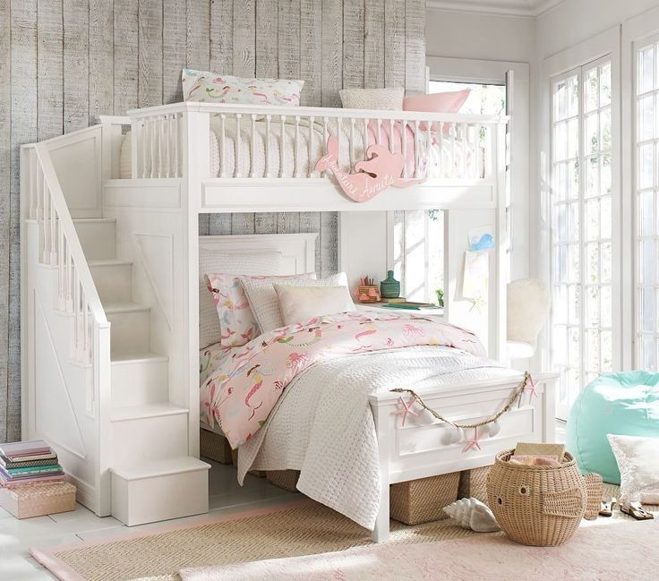 30 Cute Mermaid Themed Girl Bedroom Ideas The Urban Interior Bed For Girls Room Girls Bunk Beds Bunk Bed Rooms