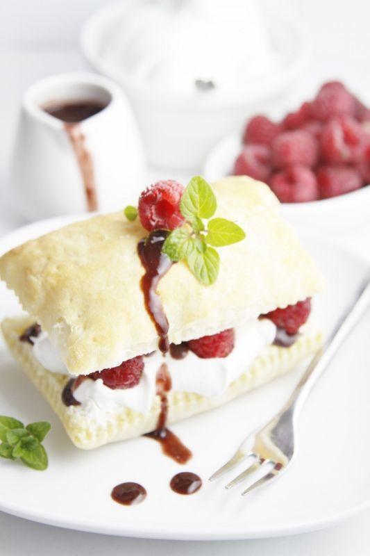 Raspberry Chocolate Napoleons