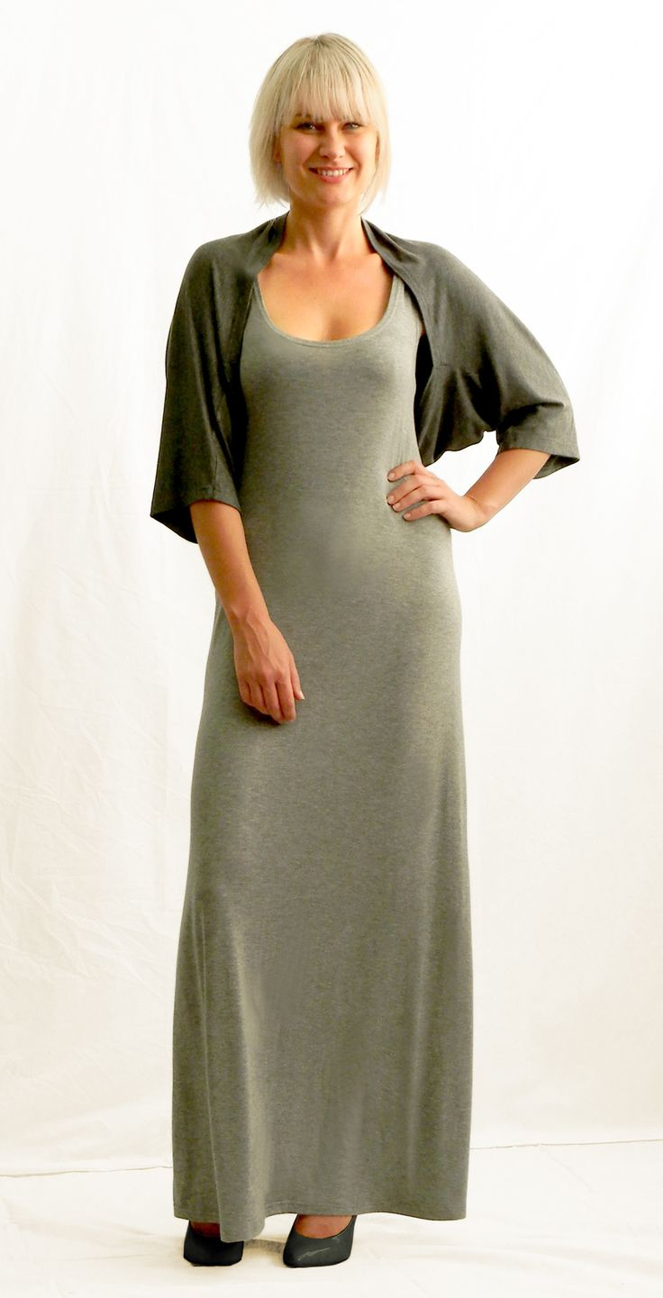 Maxi vest dress and Shrug WEISS Cape Town